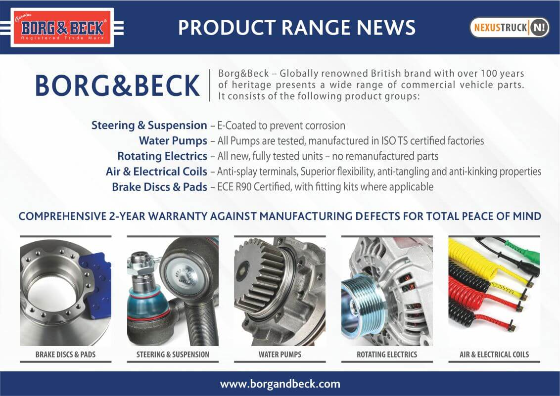 Borg product range news